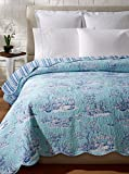 C&F Home Hampstead Toile Quilt, Blue/White, King