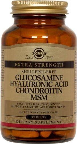 Solgar, glucosamine chondroïtine MSM Acide Hyaluronique  120 comprimés