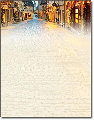 Main Street Christmas Holiday Letterhead Paper - 80 ()