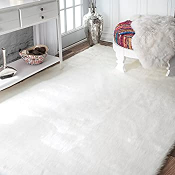 star rug artificial fur shape product buy white faux detail shaped