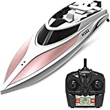 Haehne Radio Controlled Toy High Speed Racing RC Boat, LCD Screen, 2.4G System, Reversion, Left / Right Switch Mode, Remote Control Model Ship, Automatical Overturn, Wireless Electric Toy