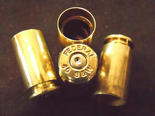 CROOKED CREEK Bullet Tire Valve Caps. Federal S&W .40 Caliber Brass - Set of 4