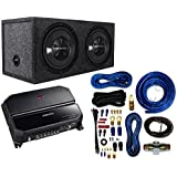 Kenwood P-W1221 Car audio Package With Dual 12, 3/4 MDF Sealed Subwoofer Enclosure And 4 Gauge AMP Kit