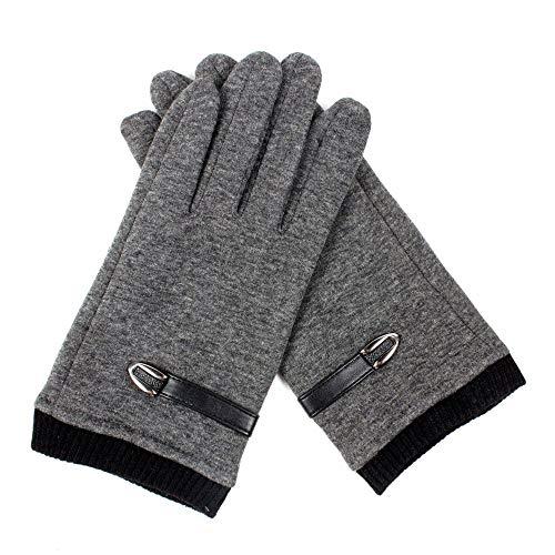 (Outdoor Non-.Falling Gloves Electric Car Riding Stalls, Men's Winter Warm Gloves,Gray,A)