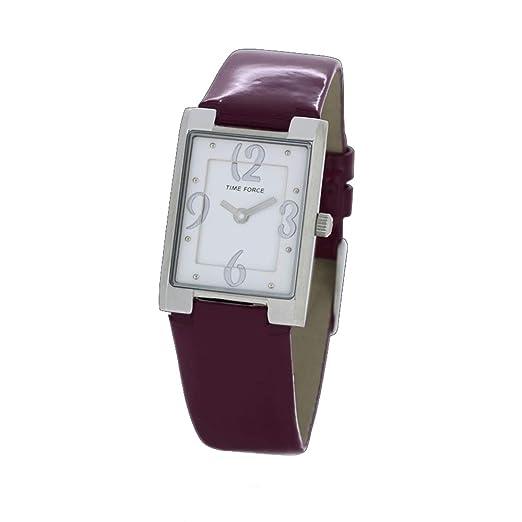 Time Force Reloj Analógico para Mujer de Cuarzo con Correa en Cuero TF4066L05: Amazon.es: Relojes