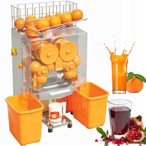 VEVOR Commercial Stainless Steel Orange Squeezer, Automatic Auto Feed Electric Fruit Juicer Machine Citrus 120W, Plastic Tank Review