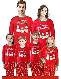 e06c85cdf9 Matching Family Pajamas Christmas Santa Claus Sleepwear Cotton Kids PJs