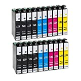 Karl Aiken Remanufactured Ink Cartridges High Capacity Replacement for 126 (8x Black, 4x Cyan, 4x Yellow, 4x Magenta, 20-Pack)