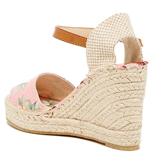 Flower Womens Bucco Flowery Sandals Fashion Pink Wedge 8Y8gwqvT5