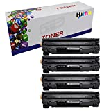 HIINK Compatible Toner Cartridge Replacement for HP CE285A ( Black , 4-pack )