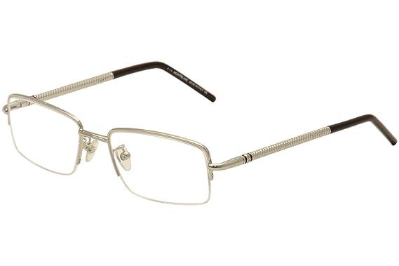 5846cad8c8 Amazon.com  MontBlanc Men s MB0440 Fashion Metal Frames SILVER 55 ...