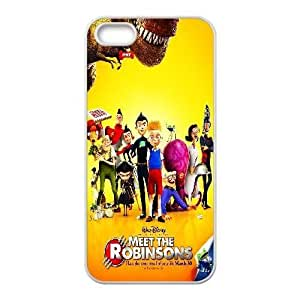 Custom for iPhone 5 5s Cell Phone Case White Meet the Robinsons Theme DG6548