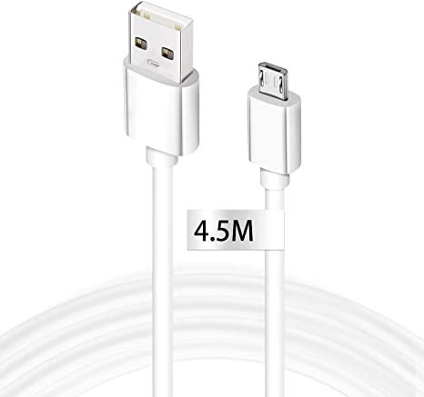 Original 10ft USB-C Cable for Raspberry Pi 4 Model B White 3M with Fast Charging and Data Transfer.