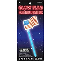 "Star Spangled Fourth of July Party Old Glory American Flag Glow Stick Favour, Plastic, 8"" x 3"""