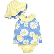 Gerber Baby Girls 3 Piece Dress Set, Daisies, 0-3 Months