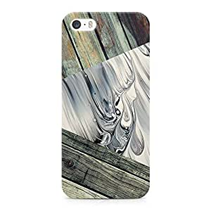 Loud Universe Marble and Wood Print 3 Tone Printed Edges Durable Wrap Around iPhone 5s Case - Multi Color