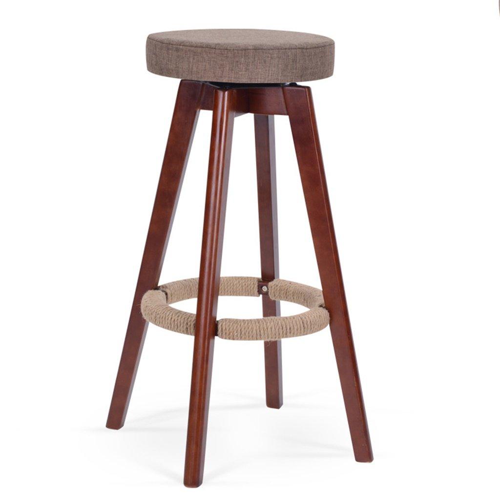 スツールヨーロッパスタイルのバーの椅子ソリッドウッドのバーの椅子背もたれの高いスツールホーム回転バーの椅子ファッションシンプルなバーのスツール (色 : B) B07DB87Q8WB