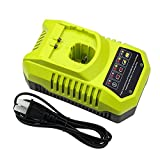 Replace Ryobi Charger for Ryobi 9.6v-18v P102 P105 P107 P117 One+ Dual Chemistry IntelliPort Lithium Ion and NiCad