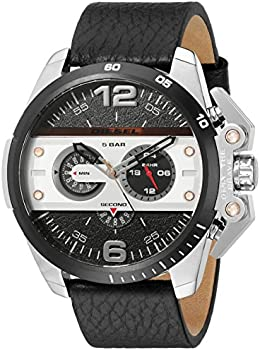 Diesel Ironside Men's Watch with Black Leather Band