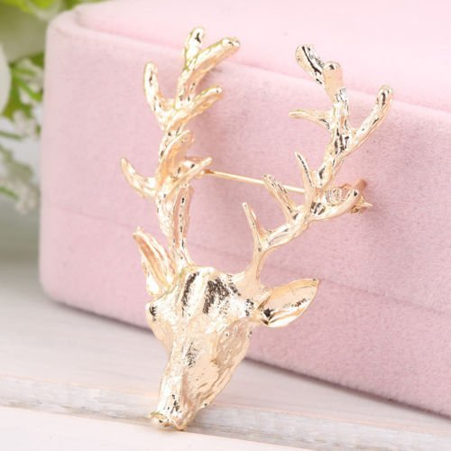 minelecttm-1x-gorgeous-christmas-antler-deer-head-collar-neck-tip-brooch-pin-xmas-gift