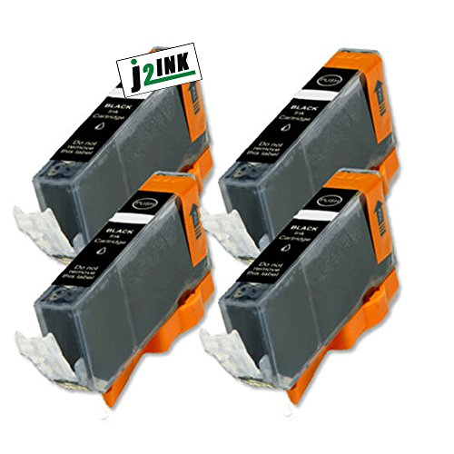 J2INK Compatible Ink Cartridge Replacement for Canon CLI-226 (4 Small Black) 4 Pack CLI-226BK