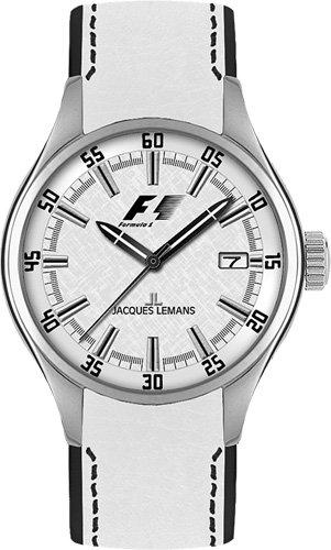 Jacques Lemans Monza F-5037B 36mm Stainless Steel Case Calfskin Mineral Women's Watch