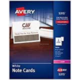 Avery Printable Note Cards, Laser Printers, 60 Cards and Envelopes, 4.25 x 5.5 (5315)