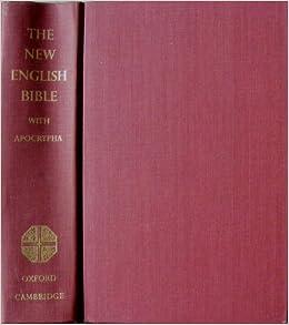 The New English Bible, the Apocrypha, Oxford University Press, 1970