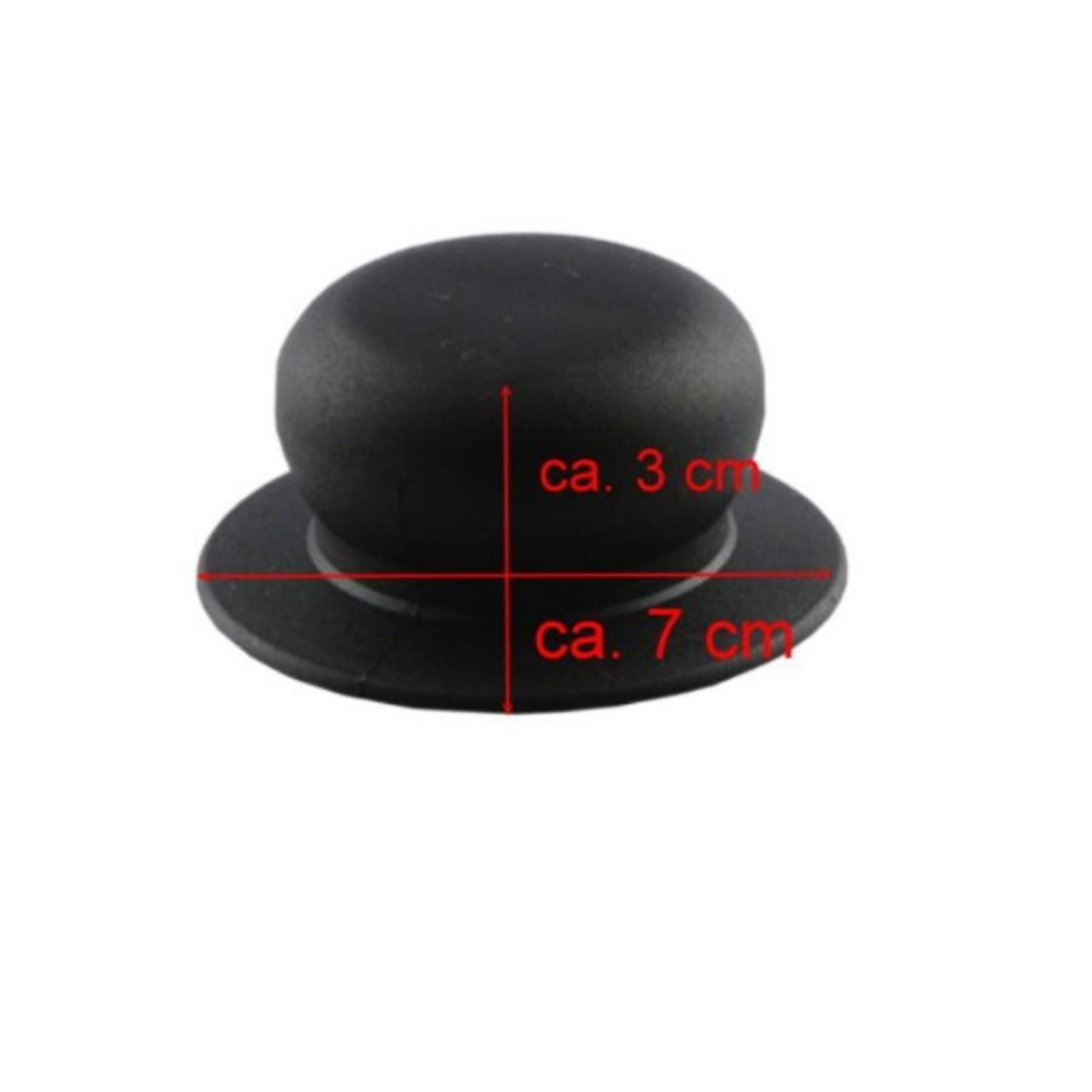Kerafactum Replacement Handles for 3 Glas Pot Pans Lid Knob Replacement Part Matt Black and Colour 7 cm Diameter universal
