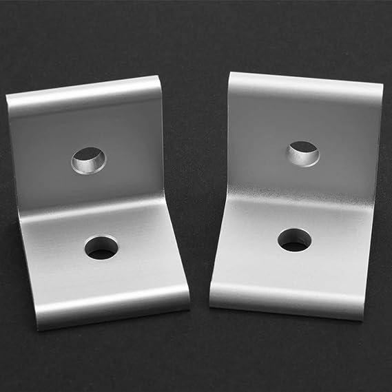 1515 2020 3030 4040 4545 Junta de conexi/ón de soporte de /ángulo de esquina de conector para perfil de aluminio Soporte de esquina L Silver 2020A