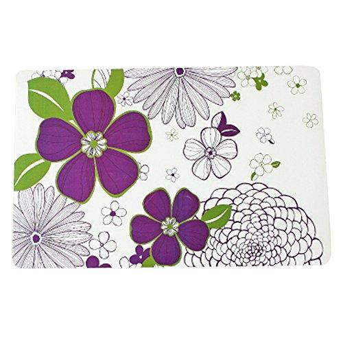 Set of 8 Fashion Vinyl Waterproof Place-mat/Cup Mat Table Decor Flowers Design