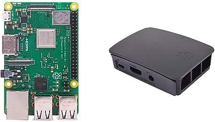 Raspberry PI 3 Model B+ - Placa de Base + 9098138 - Caja para Raspberry Oficial PI 3, Negro y Gris: Amazon.es: Informática