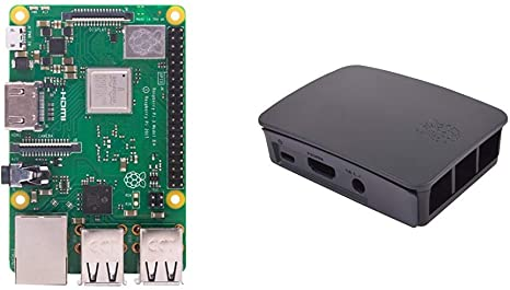 Raspberry PI 3 Model B+ - Placa de Base + 9098138 - Caja para Raspberry Oficial PI 3, Negro y Gris: Amazon.es: Informática