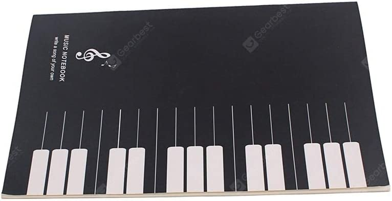 Cuaderno de notas musicales de pentagrama de pestañas: Amazon ...