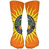 Flag Of Orange County California Unisex Sports Socks Tube Socks Knee High Compression Sports Athletic Socks Tube Stockings Long Socks