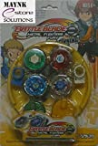 5D System Beyblade Stadium Battle with 4 Beyblades and 2 Launchers
