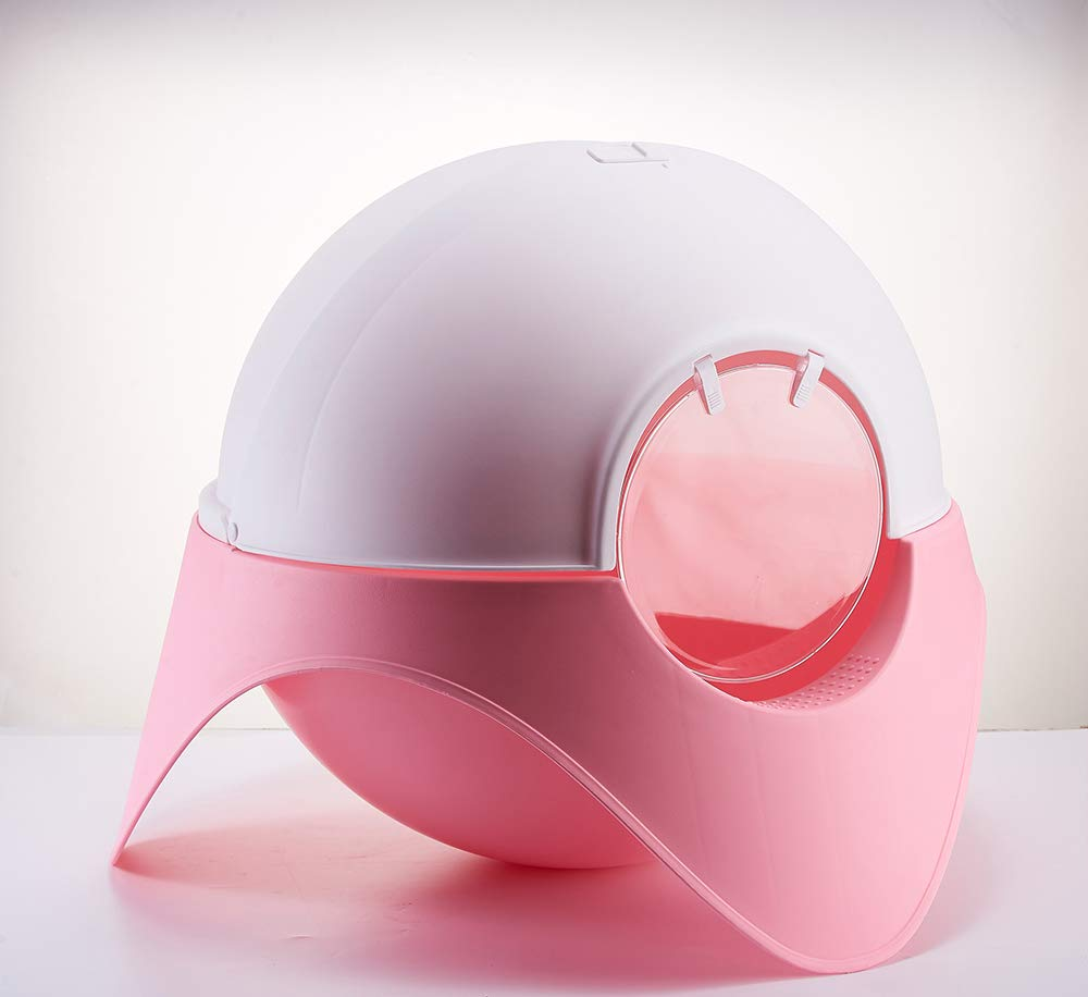 Amazon.com: Arenero Para Gatos,Creative Enclosed Litter Box Cats Favorite Space Capsule Designed To Use The Toilet Pet Cleaning Tool,Pink: Home Improvement