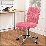Cheap Urban Shop Faux Fur Task Chair, Pink