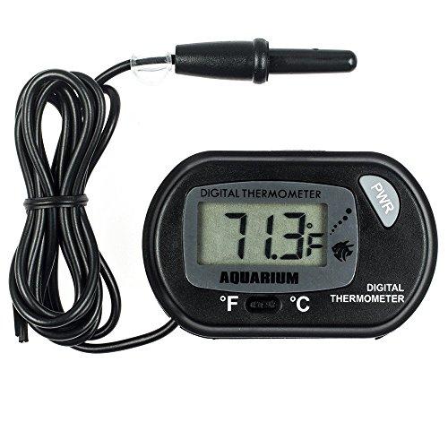 Zacro® LCD Digitales Wasser Thermometer für Terrarium,Aquarium und Vivarium