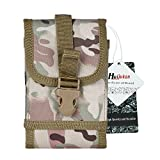 Huijukon MOLLE Tactical Smartphone Pouch Quick Release Buckle Phone Holster for iPhone7 iPhone7 Plus Galaxy Note 4, Blackberry 8300, HTC One Max (CP camouflage)