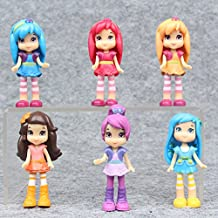 Strawberry Shortcake Dolls 6pcs/lot Princess Girl Action Figures Toys For Children