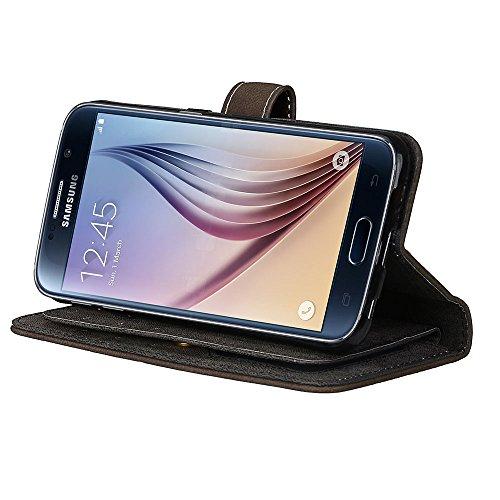 Samsung Samsung Premium efectivo para Galaxy cuero tarjetas con para con de para BONROY® S6 y para tapa Soporte S6 Funda ranuras marrón PU billetera Fordable Co con funda de Diseño libro Retro 9 magnética magnética tarjeta funda Galaxy tapa para ranura tarjeta pvtqPpz