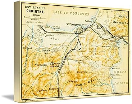 Amazon Com Imagekind Wall Art Print Entitled Vintage Map Of Corinth