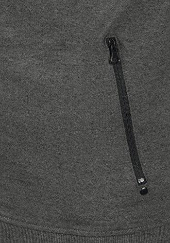 Cerniera Stampa Felpa Taras Pile solid Con Da In Grey Dark Senza Cappuccio Uomo 8288 Melange Giacca Fodera pztqBwx