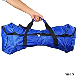 Texay(TM) 2 Colors 6.5 Inches Scooter Carrying Bag Handbag For 2 Wheels Self Balancing Drifting Smart Electric Unicycle Scooter Black Blue