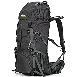 Loowoko Hiking Backpack 50L Travel Camping Backpack with Rain Cover for Outdoor