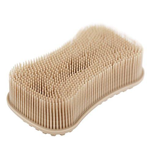 ELFRhino Sponge Multipurpose Kitchen Dish Non Stick Dishwashing Dish Brush Sponge Towel Scrubber Antibacterial Scrubber for Washing Fruit and Vegetable Pot Pan Dish Bowl Khaki (Brush Super Scrubber)