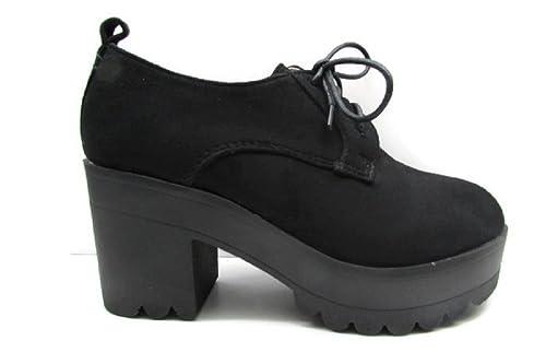 comparar el precio moda caliente zapatos de otoño Zapato Plataforma Negro DE Mujer HF SHOES 754N-38: Amazon.es ...