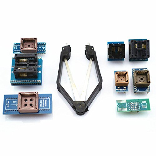 Diymore 8 Programmer Adapters Sockets Kit for TL866CS TL866A EZP2010 with IC Extractor