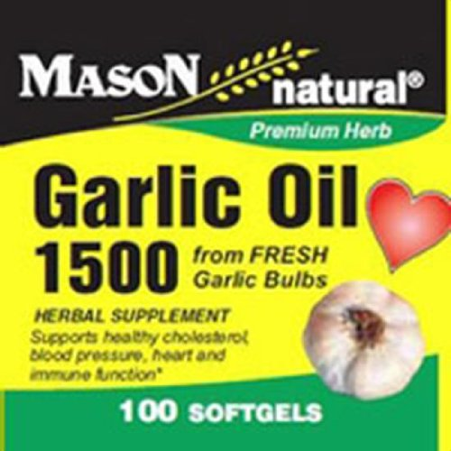 Mason natural garlic oil 1500 mg premium herb dietary supplement softgels - 100 ea Dietary Natural Supplements And Herbs